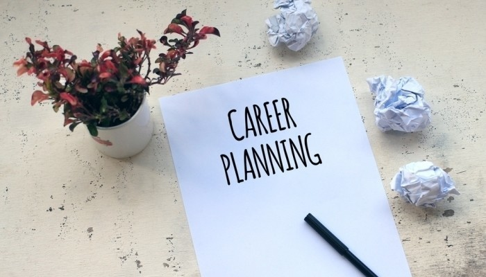 career planning on a piece of paper