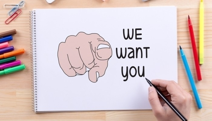 we want you job ad