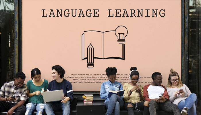 Young people learning foreign language