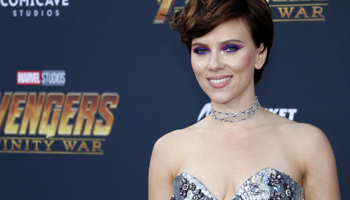 Scarlett Johannson attending the movie premiere of 'Avengers: Infinity War' in Los Angeles