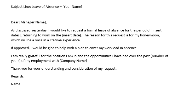 Leave Of Absence Letter To Employee from cdn1.careeraddict.com