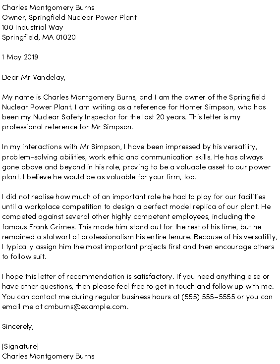 Example Of A Reference Letter from cdn1.careeraddict.com
