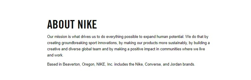 Nike Company Profile